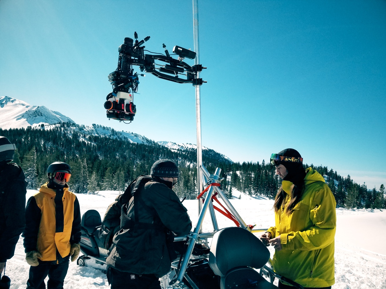 mammoth mountain vr 360 drone